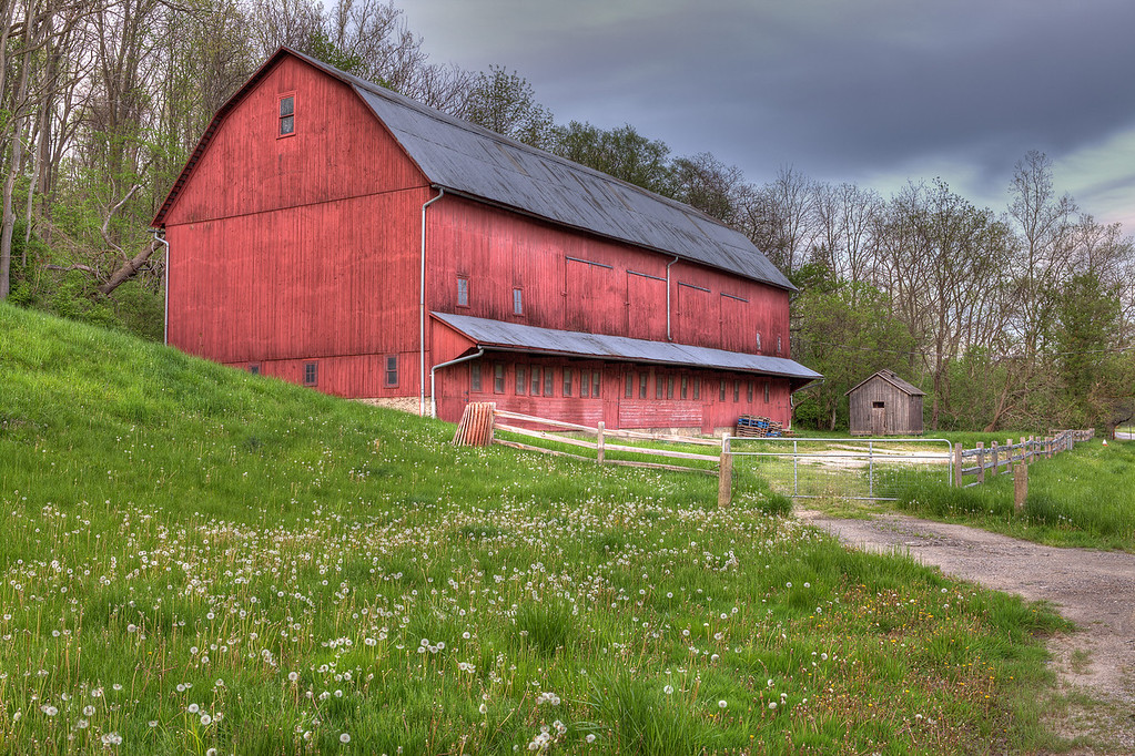 "High Dynamic Range photo of a barn on the corner of Canal and Tinkers Creek Rd.<br /> This photo can be purchased as a 30""x20"" or an 18""x12"" Ready-to-Hang Float Mount Metal Print. <br /> Purchase Price: $329.99 (30x20"") and $147.99 (18x12"")<br /> To purchase this wall mount, click on the cart button to the right."