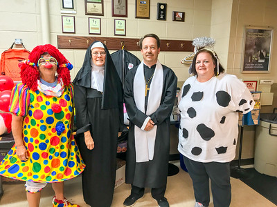Regina Winstead took home first place in the costume contest.  Doris Loar and Michael Heck tied for second and Kamy Welch came in third.