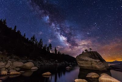 Milky Way Galaxy Over Bonsai Rock