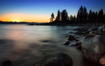 Sunset over Lake Tahoe