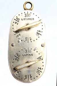 Compteur portatif de pièces de gibier, fin du 19e-début du 20e siècle.