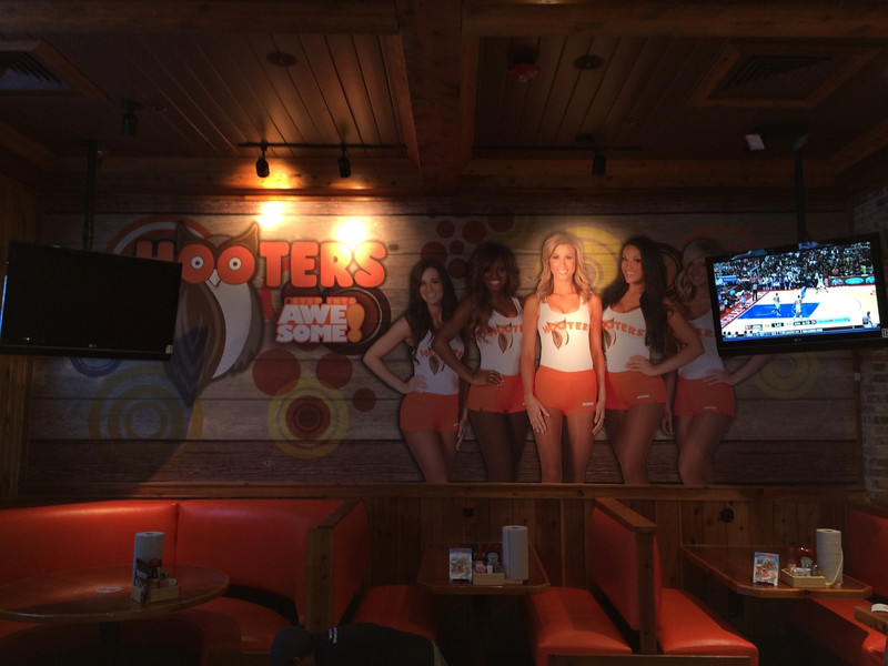 Hooters, Wall Mural, West End Dallas, TX