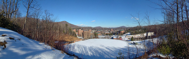 Baseball Field & Stadium Dorms in Winter, Appalachian State University, Boone, NC