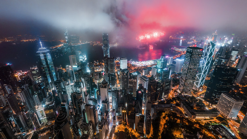 Hong Kong's New Year's Fireworks 2019