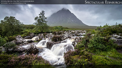 Coupall Waterfall and the Buachaille
