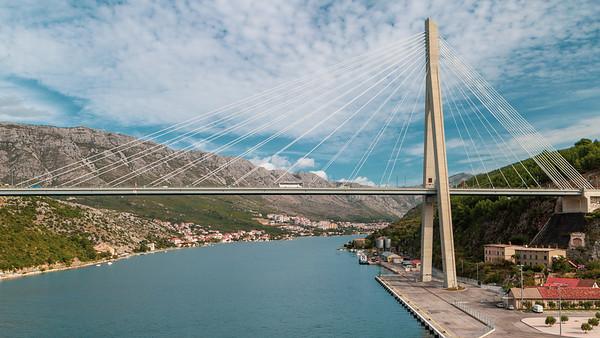 Franjo Tudman Bridge, Dubrovnik, 2012