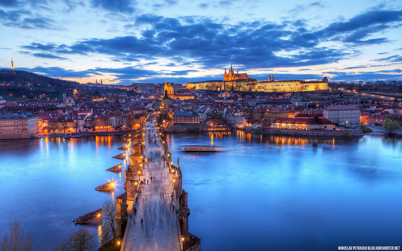 The blue sunset in Prague 1920x1200