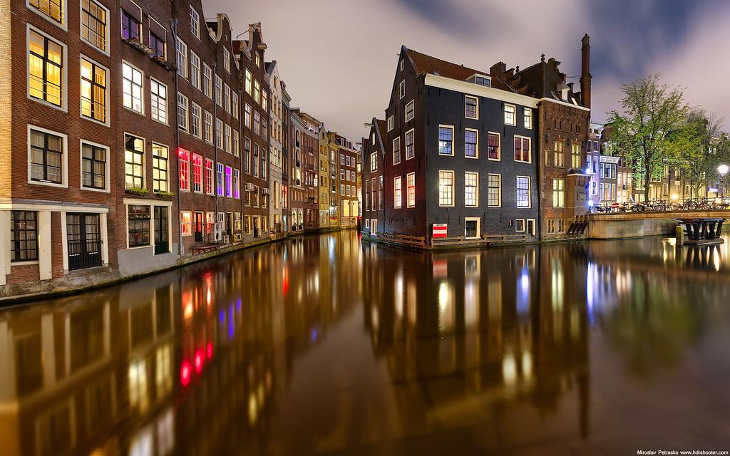 Late night Amsterdam 1920x1200