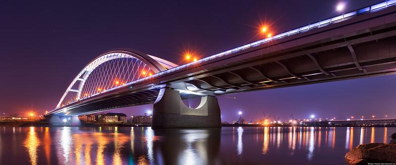 Low Danube under the Apollo bridge