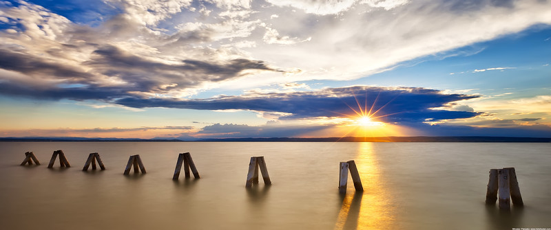 Sunset at the Neusiedlersee wallpaper