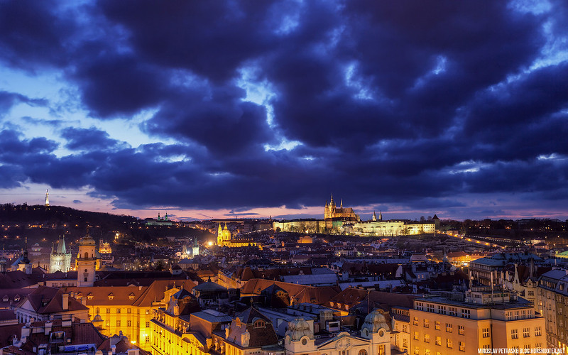 Angry clouds above Prague 1920x1200