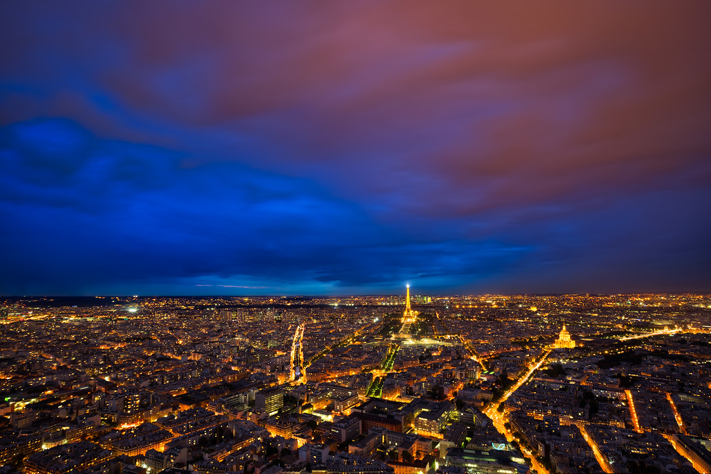 Low couds over Paris