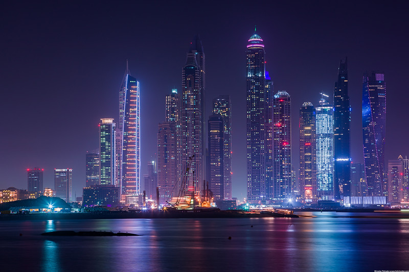 Dubai Marina in Blue wallpaper