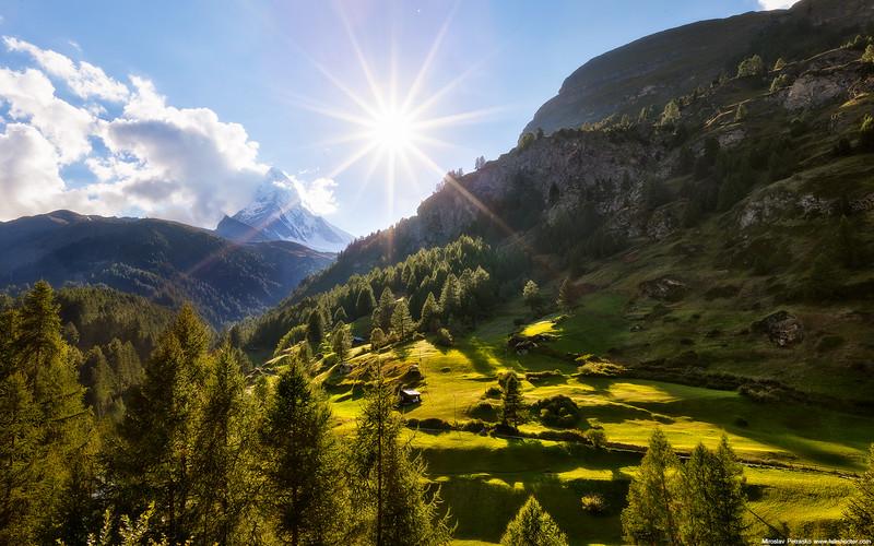 Sunny moment at Matterhorn 1920x1200