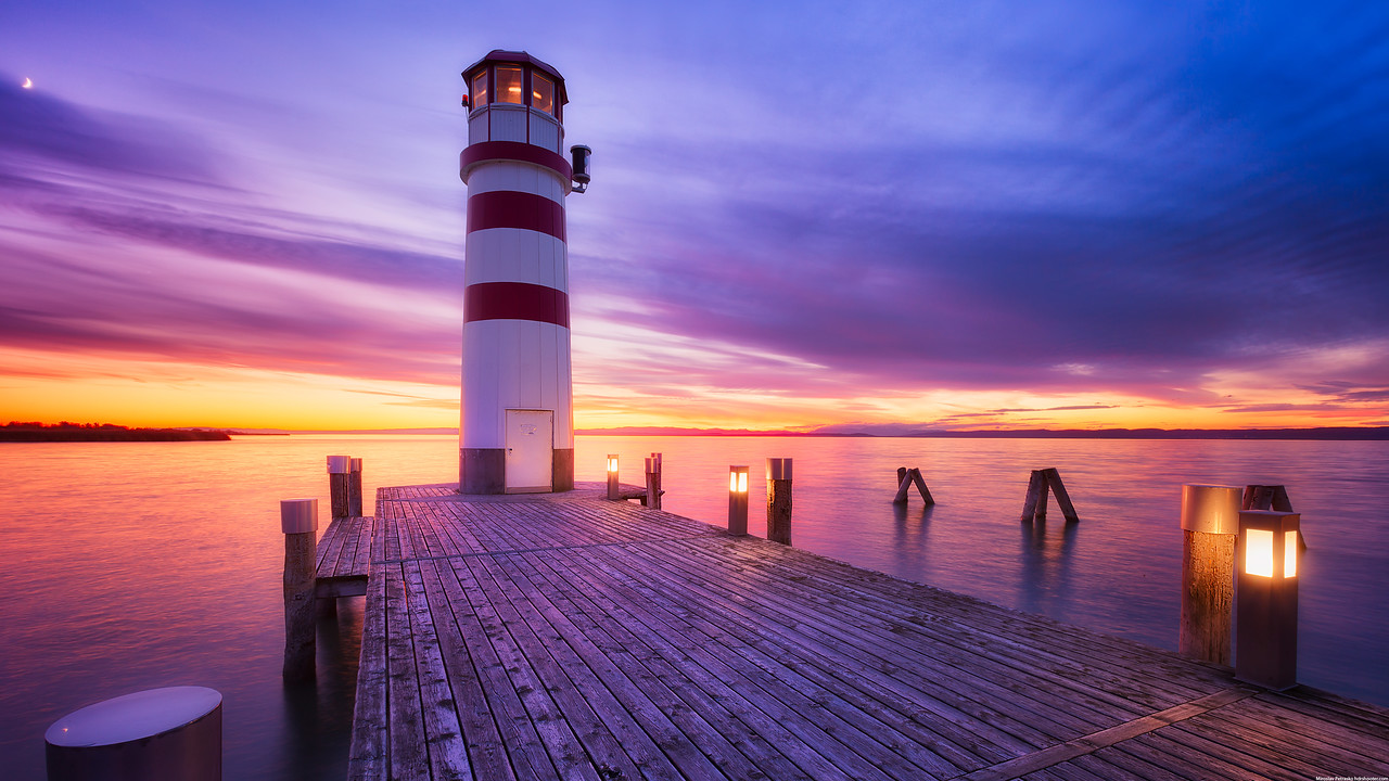 Podersdorf lighthouse 4K wallpapers