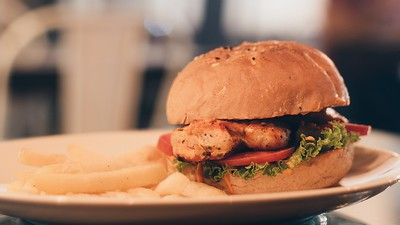Spicy grilled chicken burger