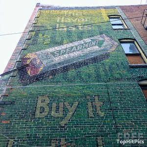 Wrigley's Spearmint Gum Ghost Sign in Butte, Montana