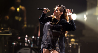 Rihanna performs at Valley View Casino Center in San Diego,  California