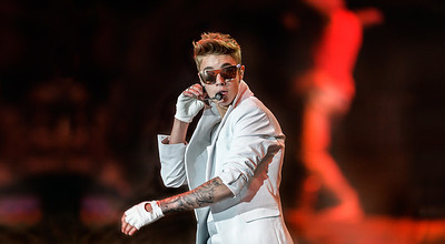 Justin Bieber performs at Valley View Casino Center in San Diego,  California