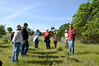 Next group hears what Sean is restoring around Indian Valley Pond.