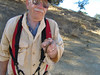 This young gopher snake (Pituophis catenifer), displayed by the unsqueamish Barney, crossed the trail in front of us.