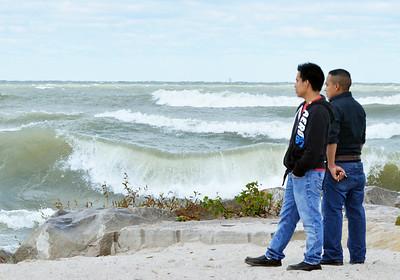 walnut beach wave watching 10/1/15