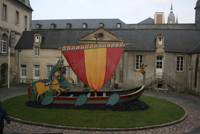 Bayeux Tapestry Museum -- Viking ship model