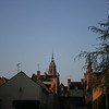 Central spire at sunrise