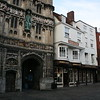 Canterbury Cathedral and Starbucks next door