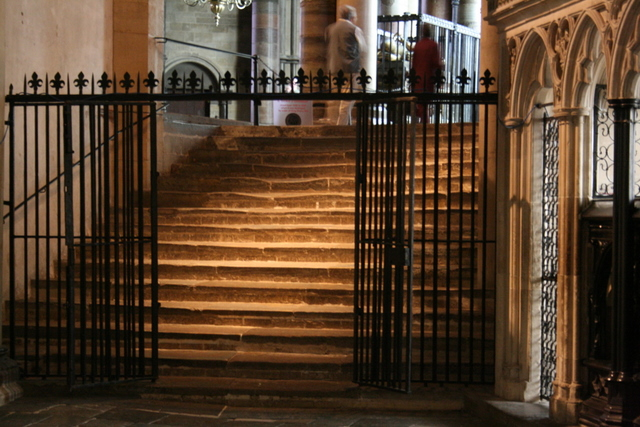 Canterbury Cathedral - Pilgrim steps to St. Edward the Confessor shrine