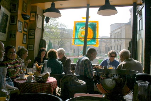 Cafe outside St. Denys