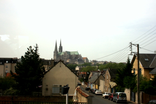 Chartres Cathedral in distance