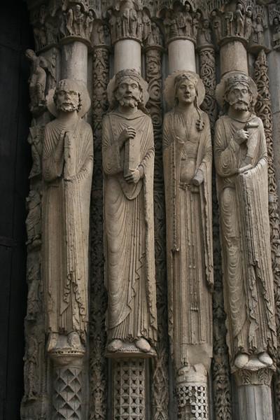 Chartres Cathedral - west door figures