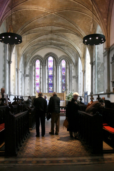 Looking through the choir