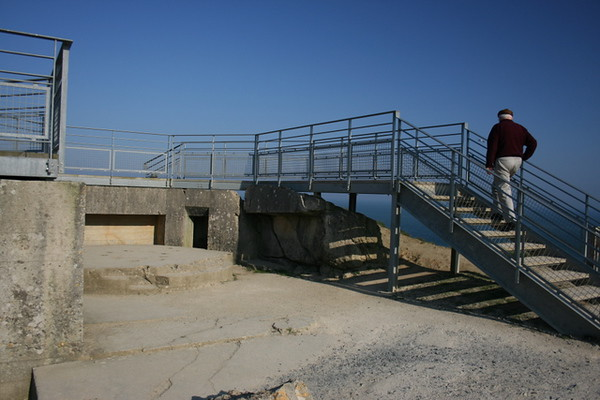 Stairs over a bunker