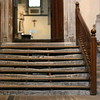Rochester Cathedral - Pilgrim steps (wooden steps protecting the worn stone)