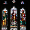 London - St. Peter's London Docks - stained glass windows in chapel