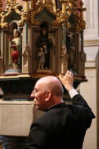 Baptismal font cover