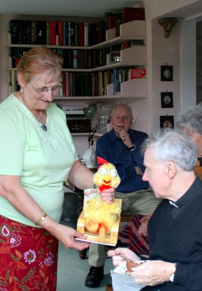 Edna demonstrates the Chicken