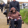 Fr. Andrew wheels Sybil Boggis toward Bingham Abbey