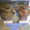 Display of pitchers from the Abbey