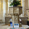Baptismal font in Bingham Abbey church