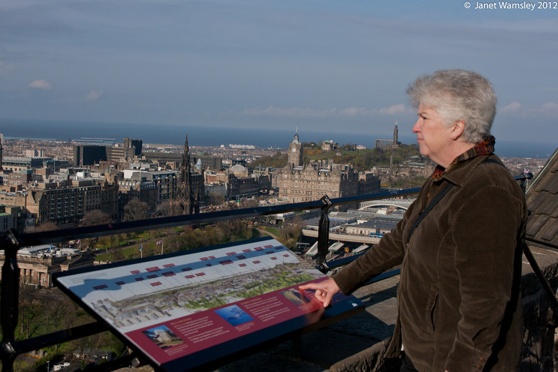Linda Wilkinson looks out over the Firth of Fourth