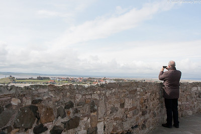 Fr. Andrew taking a picture from the castle balcony