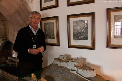 The scale model display of Lindesfarne Castle