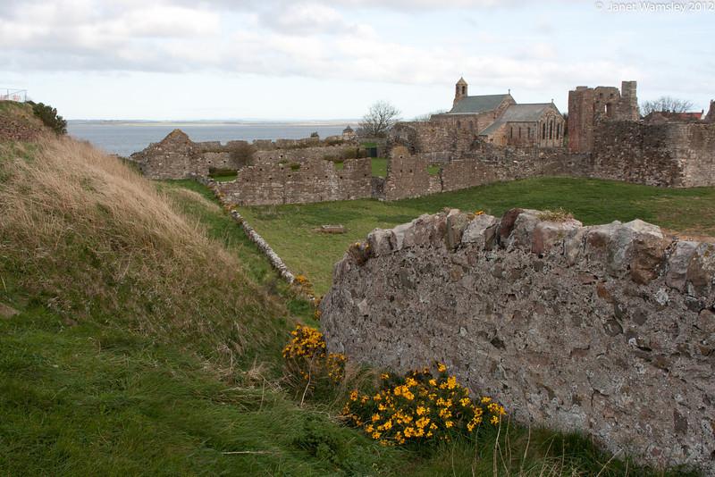 Lindesfarne Abbey walls
