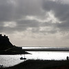 Lindesfarne Castle in early morning sun