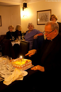 Fr. Andrew cuts his birthday cake (which came with us from Edinburgh)