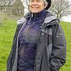 Margaret Shearing in full rain gear