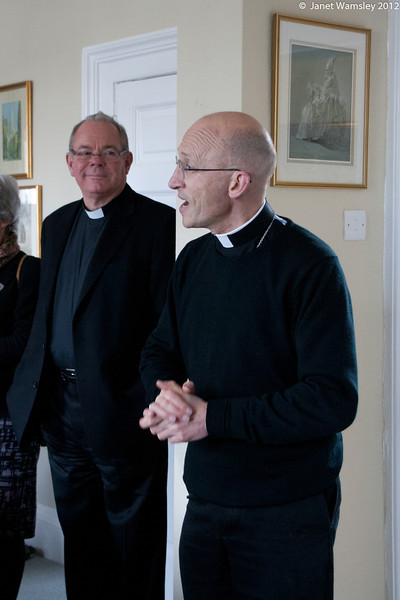 Bp. Martin welcomes us to his house for lunch